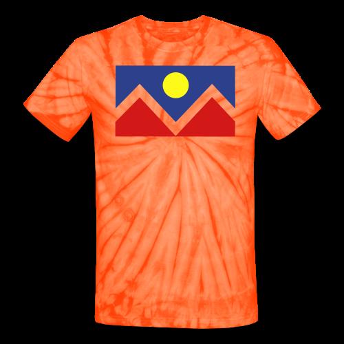 Denver Flag - Bronc - Mens OB - Unisex Tie Dye T-Shirt
