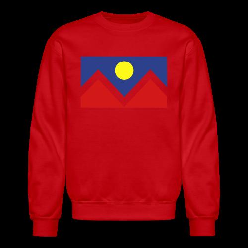 Denver Flag - Bronc - Mens OB - Crewneck Sweatshirt
