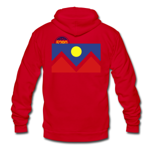 Denver Flag - Bronc - Mens OB - Unisex Fleece Zip Hoodie by American Apparel