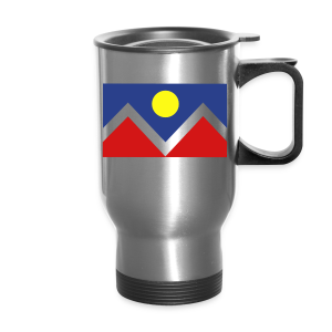 Denver Flag - Bronc - Mens OB - Travel Mug