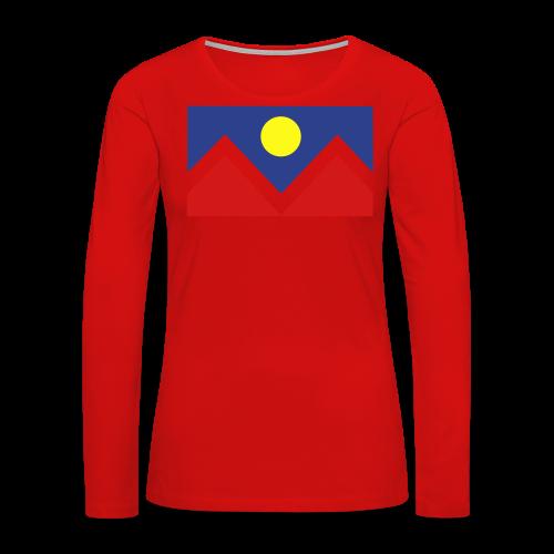 Denver Flag - Bronc - Mens OB - Women's Premium Long Sleeve T-Shirt