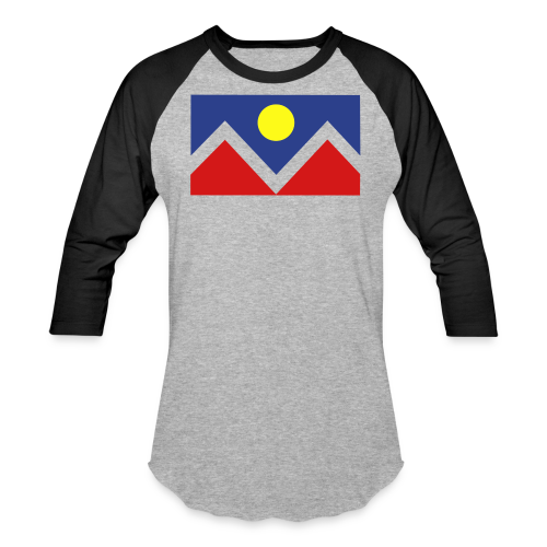 Denver Flag - Bronc - Mens OB - Baseball T-Shirt