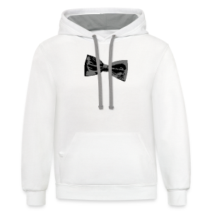 Bow Tie T-Shirt (Baseball) Right - Contrast Hoodie