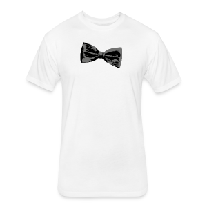 Bow Tie T-Shirt (Baseball) Right - Fitted Cotton/Poly T-Shirt by Next Level