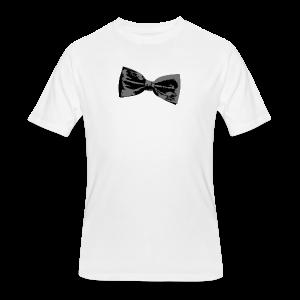 Bow Tie T-Shirt (Baseball) Right - Men's 50/50 T-Shirt