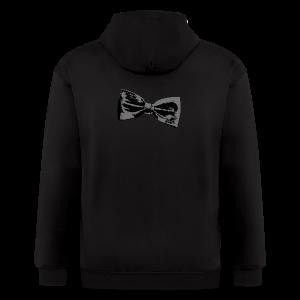 Bow Tie T-Shirt (Baseball) Right - Men's Zip Hoodie