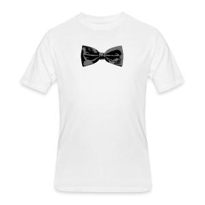 Bow Tie T-Shirt (Baseball) Straight - Men's 50/50 T-Shirt