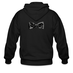 Bow Tie T-Shirt (Baseball) Straight - Men's Zip Hoodie