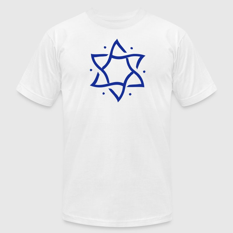 Star of David, hexagram, ✡ Israel, Judaism, Symbol T-Shirts - Men's T-Shirt by American Apparel