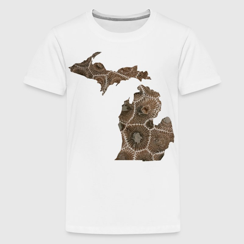 Michigan Petoskey Stone Cute Funny Pure Apparel  Kids' Shirts - Kids' Premium T-Shirt