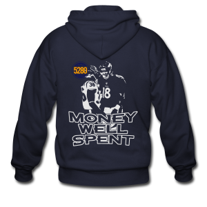 Money Well Spent - Mens T-shirt - Dark Garment - Men's Zip Hoodie