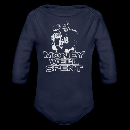 Money Well Spent - Mens T-shirt - Dark Garment - Organic Long Sleeve Baby Bodysuit