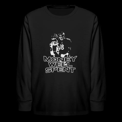 Money Well Spent - Mens T-shirt - Dark Garment - Kids' Long Sleeve T-Shirt