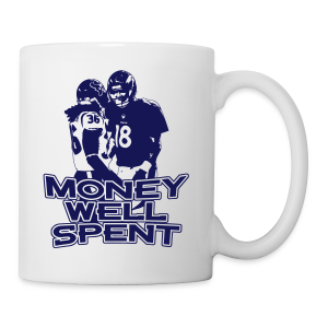 Money Well Spent - Ladies V-Neck - Dark Design - Coffee/Tea Mug