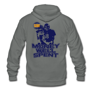 Money Well Spent - Ladies V-Neck - Dark Design - Unisex Fleece Zip Hoodie by American Apparel