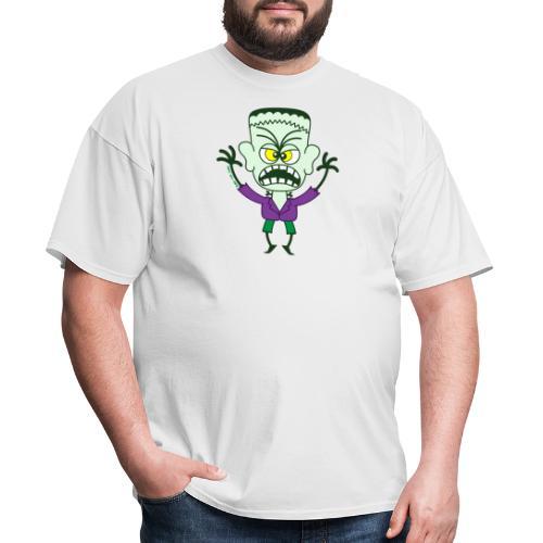 Scary Halloween Frankenstein Buttons - Men's T-Shirt