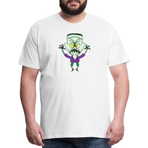 Scary Halloween Frankenstein Buttons - Men's Premium T-Shirt
