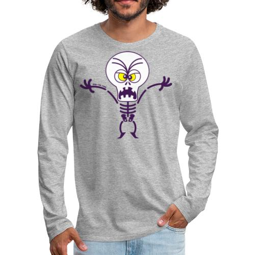 Scary Halloween Skeleton Long Sleeve Shirts - Men's Premium Long Sleeve T-Shirt