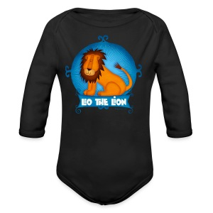 Leo The Lion  - Long Sleeve Baby Bodysuit