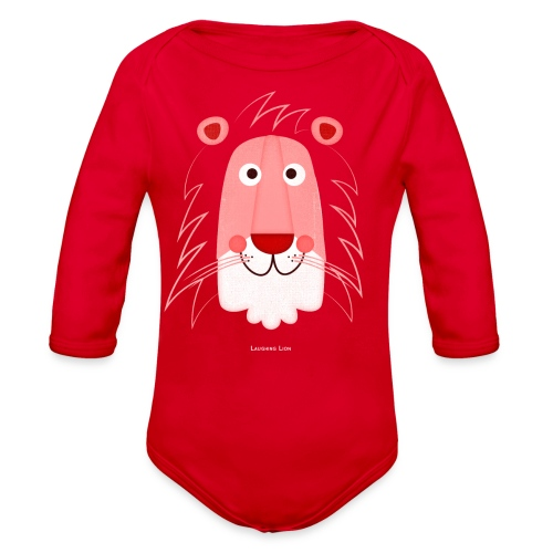 Lion Face T-Shirt - Organic Long Sleeve Baby Bodysuit