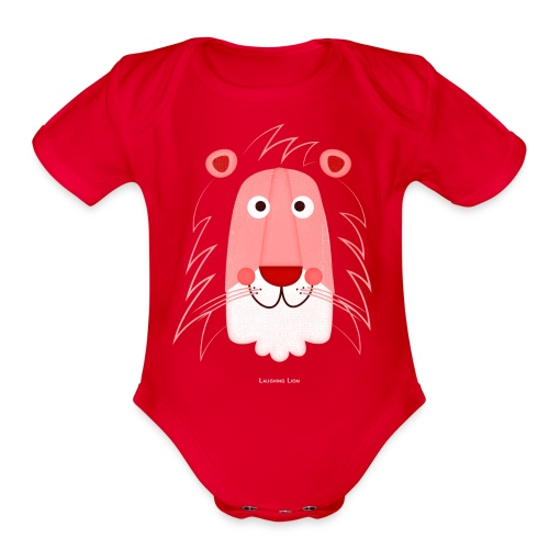 Lion Face T-Shirt - Organic Short Sleeve Baby Bodysuit