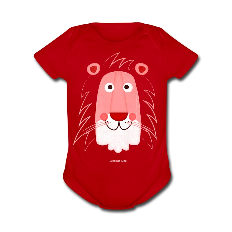Lion Face T-Shirt - Short Sleeve Baby Bodysuit