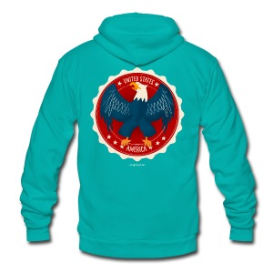 U.S.A. Eagle Men's T - Unisex Fleece Zip Hoodie
