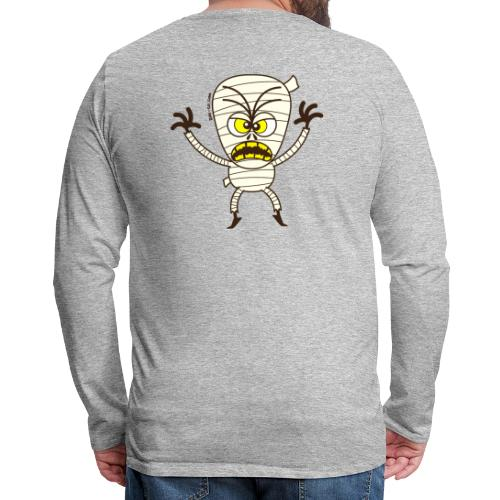 Scary Halloween Mummy Sweatshirts - Men's Premium Long Sleeve T-Shirt