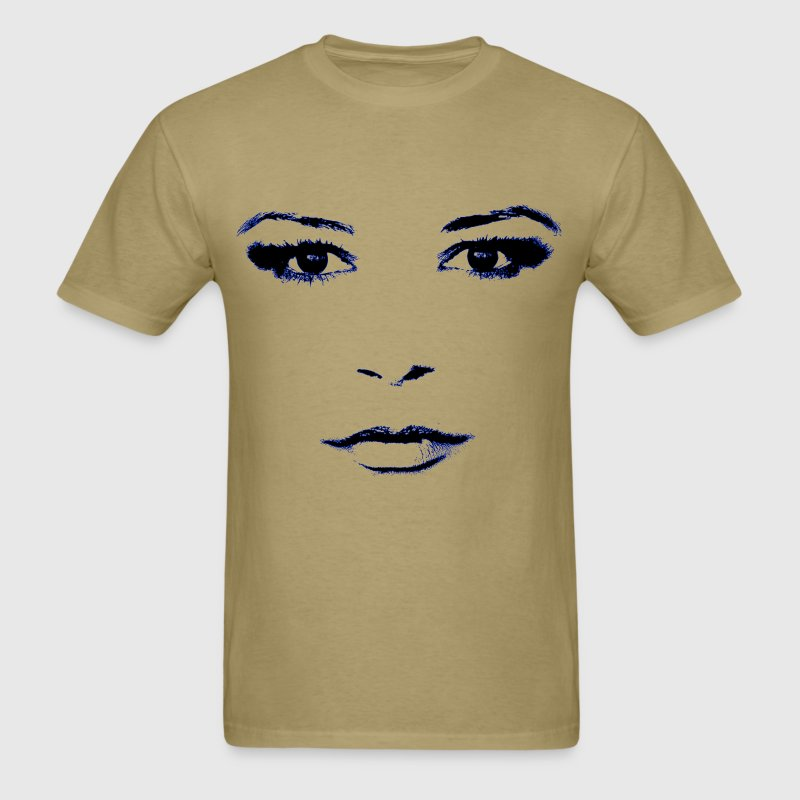 Woman's face designed for light garments. - Men's T-Shirt