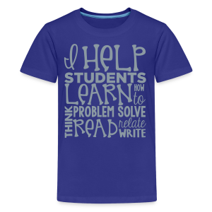 I Help Students to Learn - Kids' Premium T-Shirt