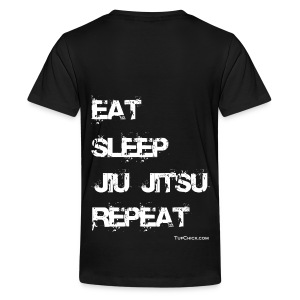 Eat Sleep Jiu Jitsu Repeat - wb - Women's Hoodie - Kids' Premium T-Shirt
