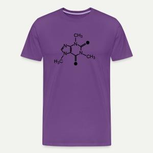 Caffeine Molecule - Men's Premium T-Shirt