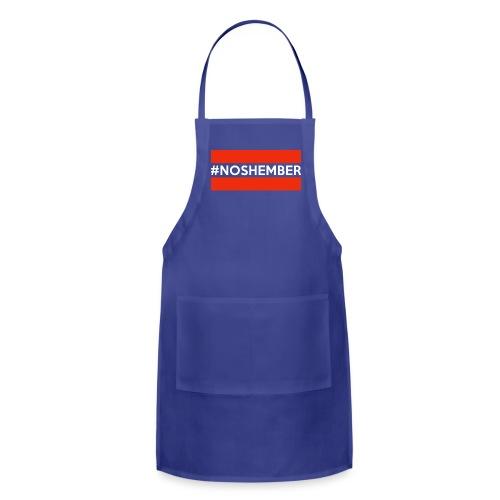 Dude's T-Shirt - Hashtag Noshember - Adjustable Apron