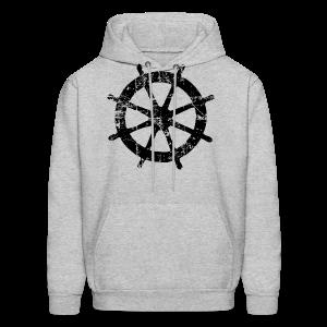 Wheel Vintage Sailing T-Shirt (Men Gray/Black) - Men's Hoodie