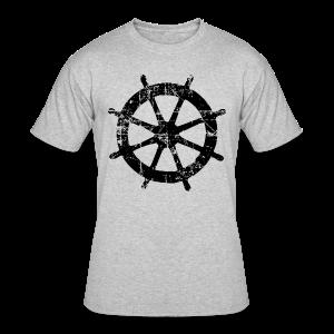 Wheel Vintage Sailing T-Shirt (Men Gray/Black) - Men's 50/50 T-Shirt
