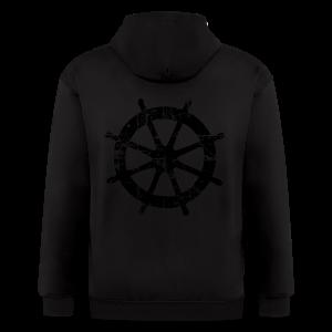Wheel Vintage Sailing T-Shirt (Men Gray/Black) - Men's Zip Hoodie
