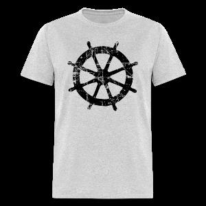 Wheel Vintage Sailing T-Shirt (Men Gray/Black) - Men's T-Shirt