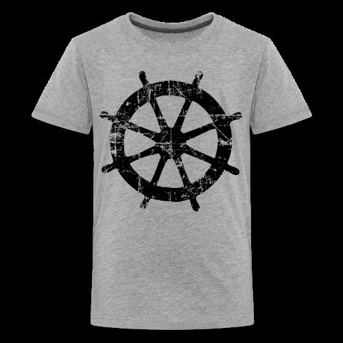Steering Wheel Vintage Sailing Design Black