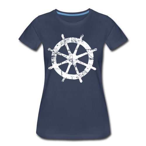 Steering Wheel Vintage Sailing Design White