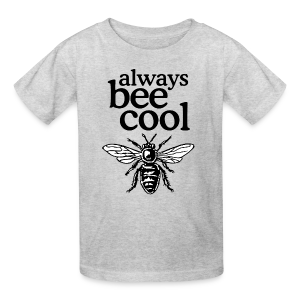 Always Bee Cool Beekeeper T-Shirt (Women Gray) - Kids' T-Shirt