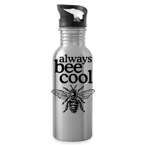 Always Bee Cool Beekeeper T-Shirt (Women Gray) - Water Bottle
