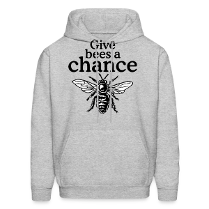 Give Bees A Chance T-Shirt (Men/Gray) - Men's Hoodie