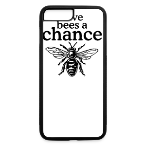 Give Bees A Chance T-Shirt (Men/Gray) - iPhone 7 Plus/8 Plus Rubber Case