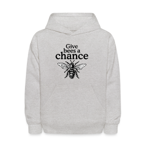 Give Bees A Chance T-Shirt (Men/Gray) - Kids' Hoodie