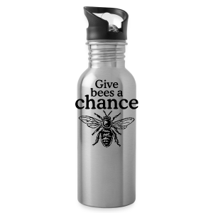 Give Bees A Chance T-Shirt (Men/Gray) - Water Bottle