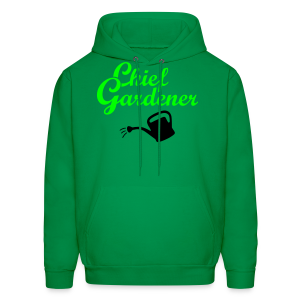 Garden T-Shirt Chief Gardener Watering (Men Green/White) - Men's Hoodie