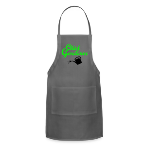 Garden T-Shirt Chief Gardener Watering (Men Green/White) - Adjustable Apron