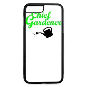 Garden T-Shirt Chief Gardener Watering (Men Green/White) - iPhone 7 Plus/8 Plus Rubber Case