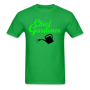 Garden T-Shirt Chief Gardener Watering (Men Green/White) - Men's T-Shirt