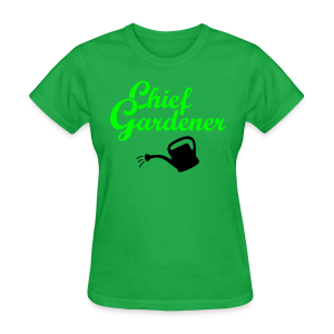 Garden T-Shirt Chief Gardener Watering (Men Green/White) - Women's T-Shirt